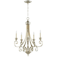 Quorum 6054-5-60 Bryant 26 inch Aged Silver Leaf Chandelier Ceiling Light
