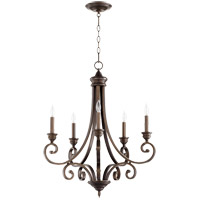 Quorum 6054-5-86 Bryant 26 inch Oiled Bronze Chandelier Ceiling Light