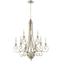 Quorum 6054-9-60 Bryant 29 inch Aged Silver Leaf Chandelier Ceiling Light