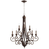 Quorum 6054-9-86 Bryant 29 inch Oiled Bronze Chandelier Ceiling Light