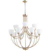 Quorum 6059-12-60 Enclave 12 Light 35 inch Aged Silver Leaf Chandelier Ceiling Light