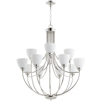 Quorum 6059-12-62 Enclave 12 Light 35 inch Polished Nickel Chandelier Ceiling Light