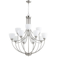 Quorum 6059-12-65 Enclave 12 Light 35 inch Satin Nickel Chandelier Ceiling Light