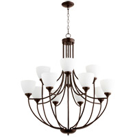 Quorum 6059-12-86 Enclave 12 Light 35 inch Oiled Bronze Chandelier Ceiling Light