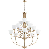 Quorum 6059-15-60 Enclave 15 Light 39 inch Aged Silver Leaf Chandelier Ceiling Light