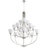 Quorum 6059-15-62 Enclave 15 Light 39 inch Polished Nickel Chandelier Ceiling Light