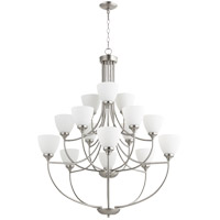 Quorum 6059-15-65 Enclave 15 Light 39 inch Satin Nickel Chandelier Ceiling Light