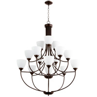 Quorum 6059-15-86 Enclave 15 Light 39 inch Oiled Bronze Chandelier Ceiling Light