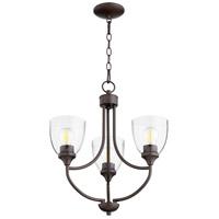 Quorum 6059-3-286 Enclave 3 Light 19 inch Oiled Bronze Chandelier Ceiling Light