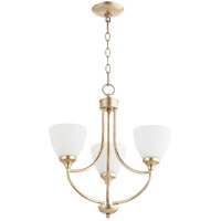 Quorum 6059-3-60 Enclave 3 Light 19 inch Aged Silver Leaf Chandelier Ceiling Light
