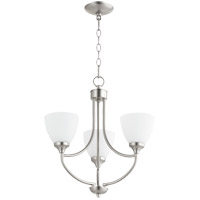 Quorum 6059-3-65 Enclave 3 Light 19 inch Satin Nickel Chandelier Ceiling Light