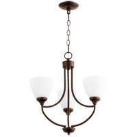 Quorum 6059-3-86 Enclave 3 Light 19 inch Oiled Bronze Chandelier Ceiling Light