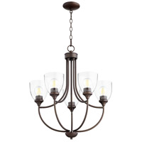 Quorum 6059-5-286 Enclave 5 Light 24 inch Oiled Bronze Chandelier Ceiling Light