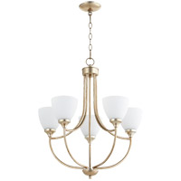 Quorum 6059-5-60 Enclave 5 Light 24 inch Aged Silver Leaf Chandelier Ceiling Light