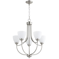 Quorum 6059-5-65 Enclave 5 Light 24 inch Satin Nickel Chandelier Ceiling Light