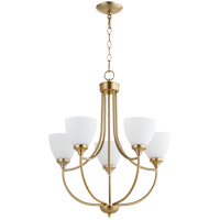 Quorum 6059-5-80 Enclave 5 Light 24 inch Aged Brass Chandelier Ceiling Light