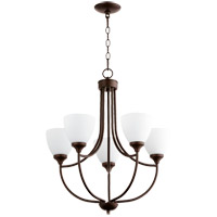 Quorum 6059-5-86 Enclave 5 Light 24 inch Oiled Bronze Chandelier Ceiling Light