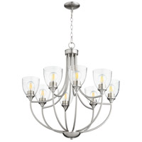 Quorum 6059-8-265 Enclave 8 Light 30 inch Satin Nickel Chandelier Ceiling Light