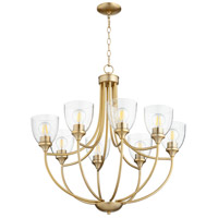Quorum 6059-8-280 Enclave 8 Light 30 inch Aged Brass Chandelier Ceiling Light