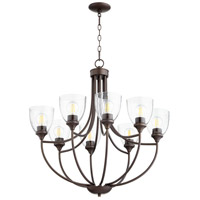 Quorum 6059-8-286 Enclave 8 Light 30 inch Oiled Bronze Chandelier Ceiling Light