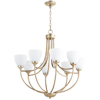 Quorum 6059-8-60 Enclave 8 Light 30 inch Aged Silver Leaf Chandelier Ceiling Light