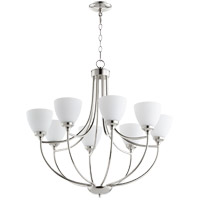 Quorum 6059-8-62 Enclave 8 Light 30 inch Polished Nickel Chandelier Ceiling Light