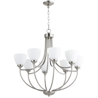 Quorum 6059-8-65 Enclave 8 Light 30 inch Satin Nickel Chandelier Ceiling Light