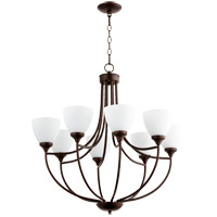 Quorum 6059-8-86 Enclave 8 Light 30 inch Oiled Bronze Chandelier Ceiling Light