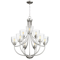 Quorum 6059-9-265 Enclave 9 Light 27 inch Satin Nickel Chandelier Ceiling Light