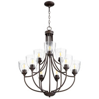 Quorum 6059-9-286 Enclave 9 Light 27 inch Oiled Bronze Chandelier Ceiling Light