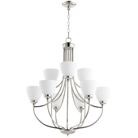 Quorum 6059-9-62 Enclave 9 Light 27 inch Polished Nickel Chandelier Ceiling Light