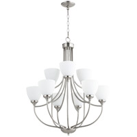 Quorum 6059-9-65 Enclave 9 Light 27 inch Satin Nickel Chandelier Ceiling Light