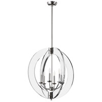 Quorum 606-6-62 Broadway 6 Light 24 inch Polished Nickel Pendant Ceiling Light