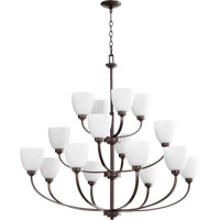 Quorum International Reyes 16 Light Chandelier in Oiled Bronze 6060-16-86
