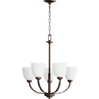 Quorum 6060-5-86 Reyes 5 Light 26 inch Oiled Bronze Chandelier Ceiling Light