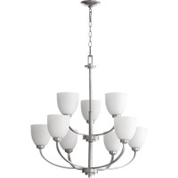Quorum International Reyes 9 Light Chandelier in Classic Nickel 6060-9-64
