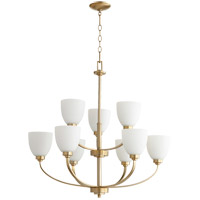 Quorum 6060-9-80 Reyes 9 Light 31 inch Aged Brass Chandelier Ceiling Light