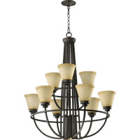 Quorum International Bancroft 9 Light Chandelier in Old World 6061-10-95