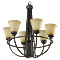 Quorum International Bancroft 6 Light Chandelier in Old World 6061-7-95