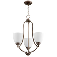 Quorum 6069-3-86 Barkley 3 Light 18 inch Oiled Bronze Chandelier Ceiling Light