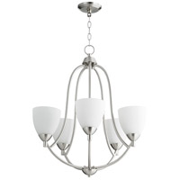 Quorum 6069-5-65 Barkley 5 Light 24 inch Satin Nickel Chandelier Ceiling Light