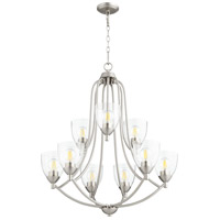 Quorum 6069-9-265 Barkley 9 Light 27 inch Satin Nickel Chandelier Ceiling Light