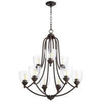 Quorum 6069-9-286 Barkley 9 Light 27 inch Oiled Bronze Chandelier Ceiling Light