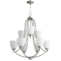 Quorum 6069-9-65 Barkley 9 Light 27 inch Satin Nickel Chandelier Ceiling Light