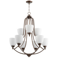 Quorum 6069-9-86 Barkley 9 Light 27 inch Oiled Bronze Chandelier Ceiling Light