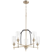 Quorum 607-5-6980 Espy 5 Light 26 inch Noir and Aged Brass Chandelier Ceiling Light