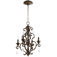 Quorum 6073-4-39 San Miguel 16 inch Vintage Copper Chandelier Ceiling Light