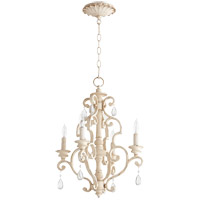 Quorum 6073-4-70 San Miguel 16 inch Persian White Chandelier Ceiling Light