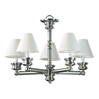 Quorum International Madison 5 Light Chandelier in Satin Nickel 6074-5-65