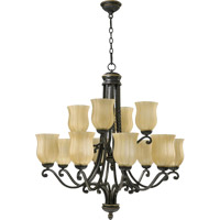 Quorum International Tribeca 12 Light Chandelier in Old World 6078-12-95